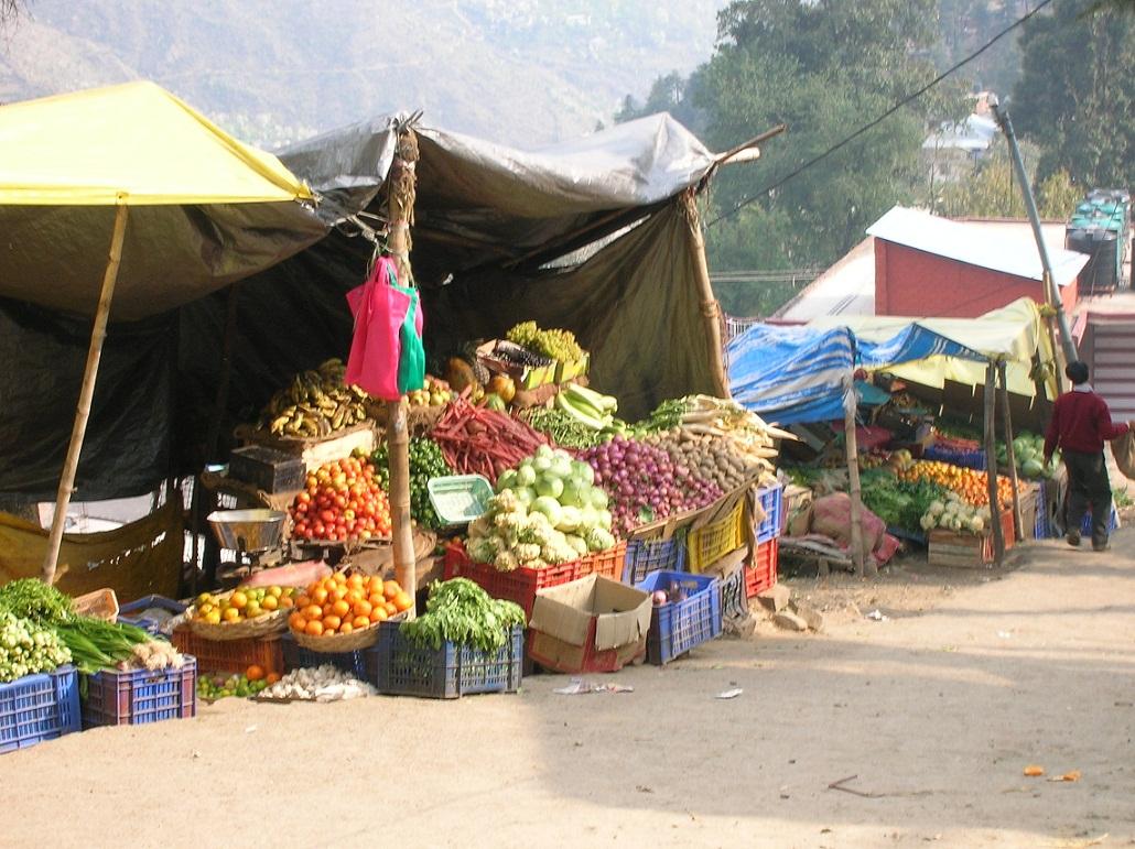 Dharamsala produce stand